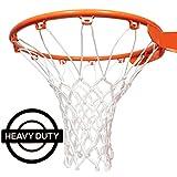 Amble Ersatz-Basketballnetz Starker Netz für Drinnen und Draußen - All Wetter - Reifen mit 12 SCHL