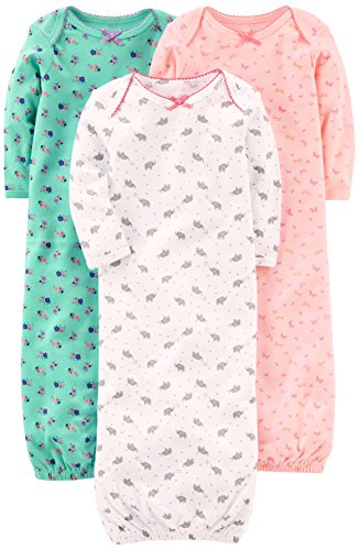 Simple Joys by Carter\'s Baby Mädchen (0-24 Monate) Nachthemd rosa Pink/Mint/White Newborn