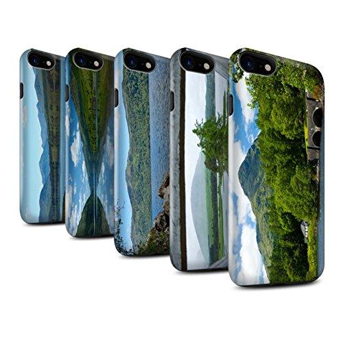 STUFF4 Glanz Harten Stoßfest Hülle / Case für Apple iPhone 8 / Felsig Strom Muster / Schottisch Landschaft Kollektion Pack 14pcs