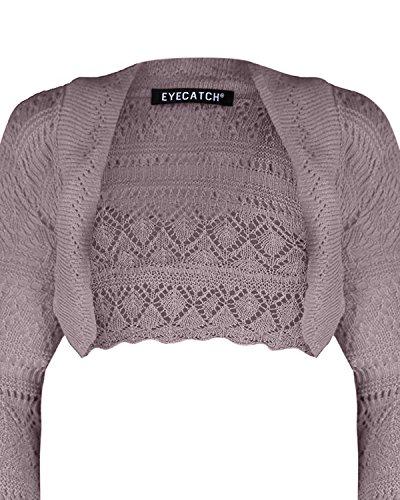 EyeCatch - Lilly Au Crochet Tricoté Haussement DÉpaules Léger Gris