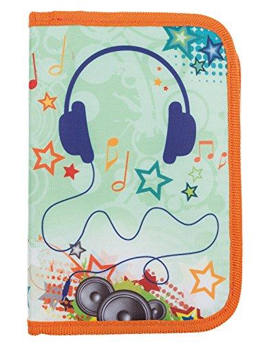 Idena 21556 - Schüleretui Teen Design Music, 50 teilig, bunt
