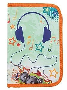 Idena 21556-Estuche Escolar Teen Diseño Music, 50Piezas, Multicolor