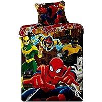 Jerry Fabrics JF0102 Bettwäscheset Spiderman, 1x Bettdecke und Kissenhülle, 100% Baumwolle, 140 x 200 / 70 x 90 cm