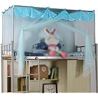 Moskitonetz Student-Shop Einzelbett Polyester Atmungsaktiv Blau Anti-Moskito-Zipper Staubschutz 3,3 Fuß Bett