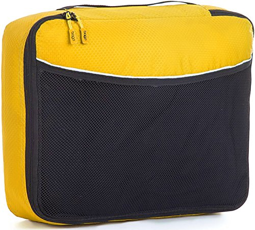 Bago Imballaggio Sacchetti Cubes Viaggi Organizzatore( Large Yellow)