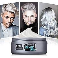 Y.F.M. Tinte de Pelo Gris Cera Cabello Para Pelo Gris Plata, Crema Para Colorante Pelo Temporal, Silver Gray Hair Color 120 ml