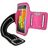 igadgitz Rosa Brazalete Armband Sports Gym Jogging para Motorola Moto G 4G 1 ª Generación Moto E 1 ª & Moto E 2ª Generación & Moto X 1 ª Generación 2013