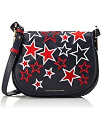 Tommy Hilfiger Iconic Saddle Bag Stars - Borse a tracolla Donna, Blau (Tommy Navy / Stars), 3x22x27 cm (L x H D)
