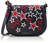 Tommy Hilfiger Iconic Saddle Bag Stars, Women's Cross-Body Bag, Blau (Tommy Navy / St...