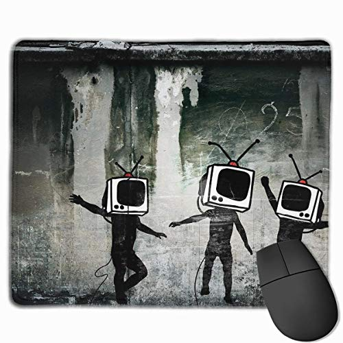 keiwiornb Non-Slip Mouse Pad Rectangle Rubber Mousepad Robot TV Men Print Gaming Mouse Pad