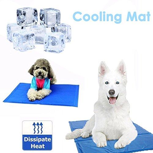WSS Alfombrilla de refrigeración para perro, tamaño mediano, 50 x 40 cm, gel no tóxico,...