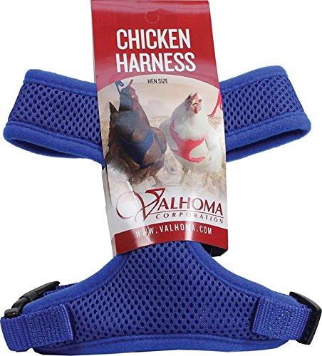valhoma 756S C bl 625479Mesh Chicken Geschirr, blau, Henne (Chicken Harness)