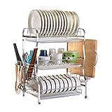 El perchero de cocina - el tenderete de lavar, los platos de costumbre El perol de cocina de cubiertos, el acero inoxidable 304 con el tenderete de agua 3 capas ( Color : D , Tamaño : 43.5cm )