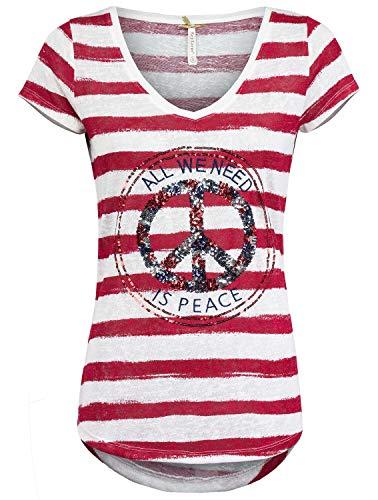 Key Largo Damen T-Shirt, Farbe:rot, Größe:XS -