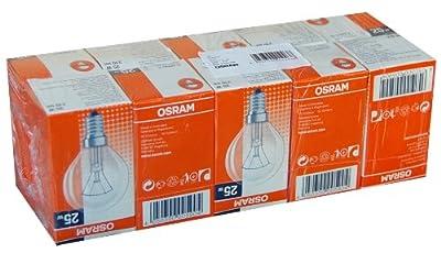 10 x Osram Glühbirne Tropfen 25W E14 klar Glühlampe 25 Watt Glühbirnen Glühlampen von Osram auf Lampenhans.de
