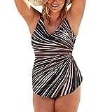 Bfmyxgs Sommermode Sexy Damen Stilvolle Monokini Push Up Strand Einteiliger Bikini Fashion Plus Size Gepolsterter Badeanzug Charming Badebekleidung Beachwear Sexy Tankini-Sets Badeanzug Badeanzug