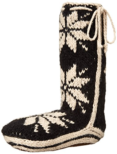 woolrich-womens-chalet-sock-slipper-black-small-6-8-m-us