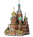 """Umbum 110 Maßstab: 1: 200 35 x 26 x 42 cm """"Clever Papier historischen Gebäude Die Retter Auf Blut vergossen Sankt Petersburg"""" 3D Puzzle"""