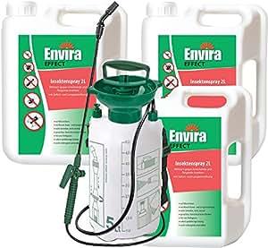 ENVIRA EFFECT Insektenvernichtung 3x2Ltr + 5Ltr Sprüher