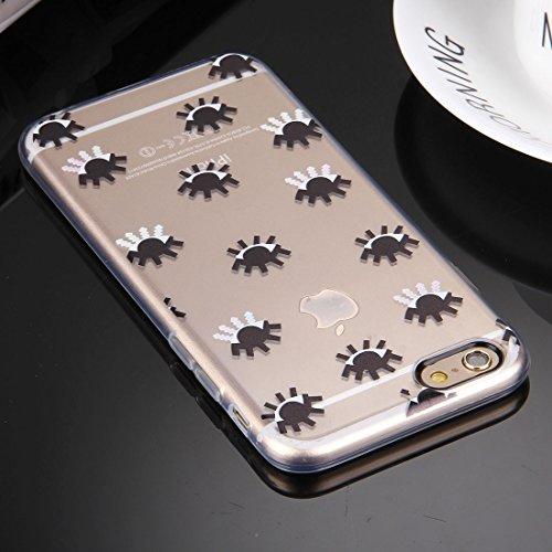 Phone case & Hülle Für iPhone 6 / 6s, Prägung Augen Muster Soft TPU Schutzhülle ( Color : Red ) Black