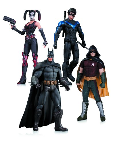 Dc Comics Harley Quinn Batman Nightwing Robin Action Figure (Pack of 4)