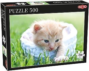 Tactic Cats 500 pcs Puzzle - Rompecabezas (Puzzle Rompecabezas, Fauna, Niños, Gato, Niño/niña, 8 año(s))
