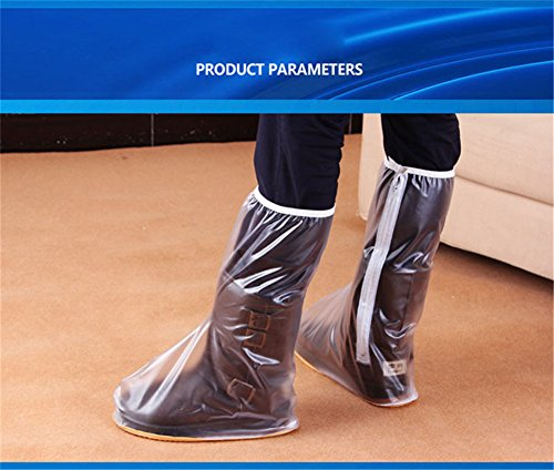 West Biking - Copri scarpe e stivali, protezione outdoor antipioggia, impermeabile, riutilizzabile Transparent
