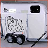 Kaltblüter Modell 2 Aufkleber Anhänger Pferd Anhänger ca.80x60cm
