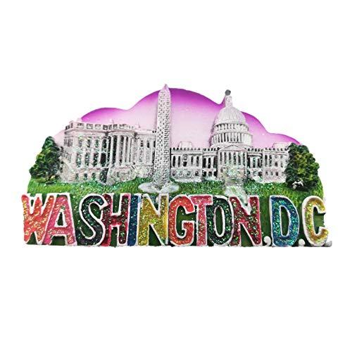 3D Kühlschrankmagnet, Home & Kitchen Dekoration, Aufkleber Washington, D.C. USA Travel Souvenir Geschenk Kühlschrank Magnet ()