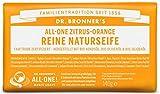 Dr. Bronner´s reine Naturseife 140 gr. Duftrichtung (Citrus-Orange) Fair Trade zertifiziert, Bioseife aus kontrolliert biologischem Anbau, vegan, keine Zusatzstoffe, Hergestellt mit Bio-Kokosöl, Bio-Olivenöl, Bio-Jojobaöl
