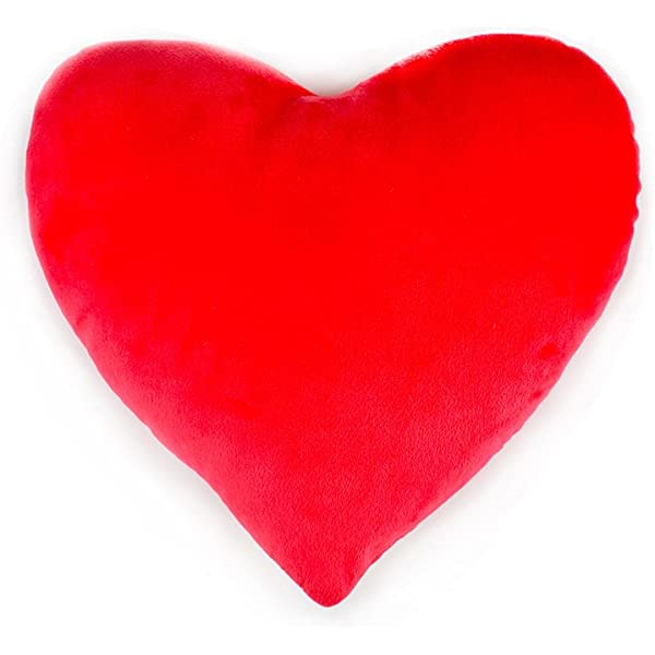 Lunji Red Love Heart Shape Throw Pillow