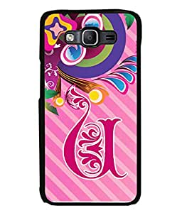 Samsung Galaxy E5 (2015) , Samsung Galaxy E5 Duos, Samsung Galaxy E5 E500F E500H E500Hq E500M E500F/Ds E500H/Ds E500M/Ds Back Cover Alphabet U Multicolor Floral Pattern Design From FUSON