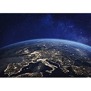 Destination Vinyl Posters A1 | Satellite Image Earth At Night Poster Art Print 60 x 90cm 180gsm Gift #14013