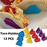 TAOtTAO 12 Stück Mexikanische Pfannkuchenwiege pro Set Wave Shape Pie Gebäck Pizza Halter Taco Holder