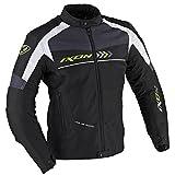 Ixon Alloy Motorrad Textiljacke S Schwarz/Weiß/Grün