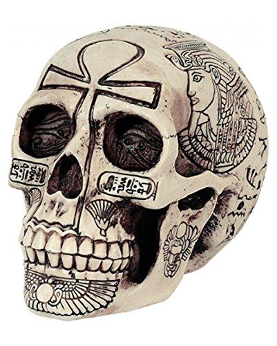 Ägyptische Halloween (Ägyptischer Hieroglyphen Totenkopf für Gothic &)
