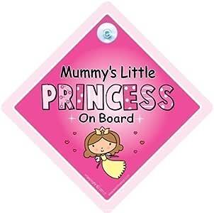 Non Personalised Child//Baby On Board Car Sign~ Unicorn Princess Dark Blue
