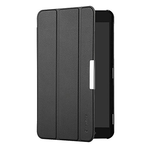 EasyAcc Samsung Galaxy Tab A 7.0 Hülle Schutzhülle Case Hochwertiges PU Leder Etui - mit Standfunktion für Samsung Galaxy Tab A 7.0 SM-T280 / SM-T285 Tablet 2016 Version (Schwarz, Kunstleder, Ultra Dünn) (Samsung Tablet Neues 7 Galaxy)