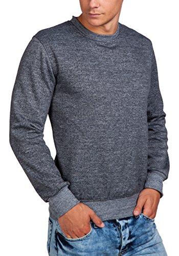 BOLF – Sweat-shirt – Manches longues – U-neck – Homme – MIX Gris_5008