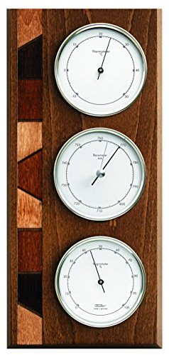 Fischer Wetterstation, Holz, Oak Rustic Coloured, 30 x 15.5 x 34 cm