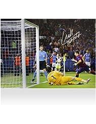 Iconos tienda Unisex iclsbp2Luis Suárez Firmado Barcelona foto: 2015UEFA Champions League Final objetivo vs juventus, multicolor, na