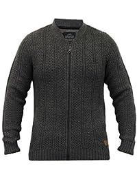 Hommes Mélange Laine Cardigans Threadbare Câble Pull Tricot Gaufré Fermeture Éclair Hiver Neuf