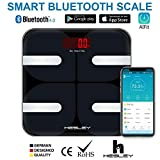 HESLEY Smart Bluetooth Body Fat BMI Wireless Digital Bathroom Weight Scale with 18