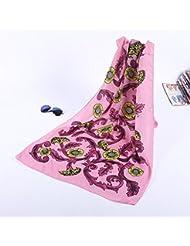 ZLL Bufanda de seda, bufandas impresos, chales bufandas decorados, toallas de playa , 10