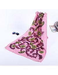 ZLL Bufanda de seda, bufandas impresos, chales bufandas decorados, toallas de playa ,