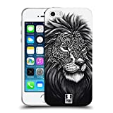 Head Case Designs Leone Natura Decorata Cover Morbida in Gel per iPhone 5 iPhone 5s iPhone SE