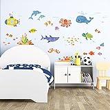 Decowall DAT-1611 Aventura en el Mar Vinilo Pegatinas Decorativas Adhesiva Pared Dormitorio Salón Guardería Habitación Infantiles Niños Bebés