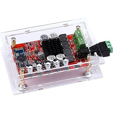 Yeeco TDA7492P Hifi Bluetooth Mini amplificador receptor de audio 50W + 50W estéreo placa de amplificación amplificador amplificador amplifique Bluetooth doble potencia del canal del amplificador de audio digital con Shell; Disipador de calor de la viruta y la conexión de soldadura libre de DC