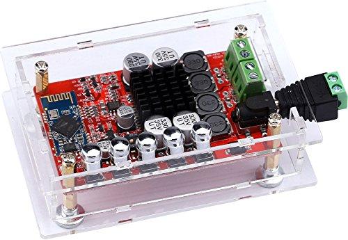 Yeeco Hifi Mini-Bluetooth-Verstärker Audio Receiver 50W + 50W Dual Channel Bluetooth-Leistungsverstärker Digital-Audio-Stereo-Verstärker Ampli-Board mit Shell; Heatsink Chip & Free-Schweiß-Anschluss