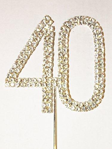 Numero 40, grande diamante torta. Stunning per torte di compleanno